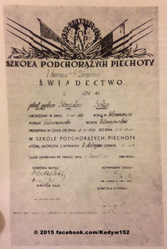 Świadectwo Stanisława Sołtysa