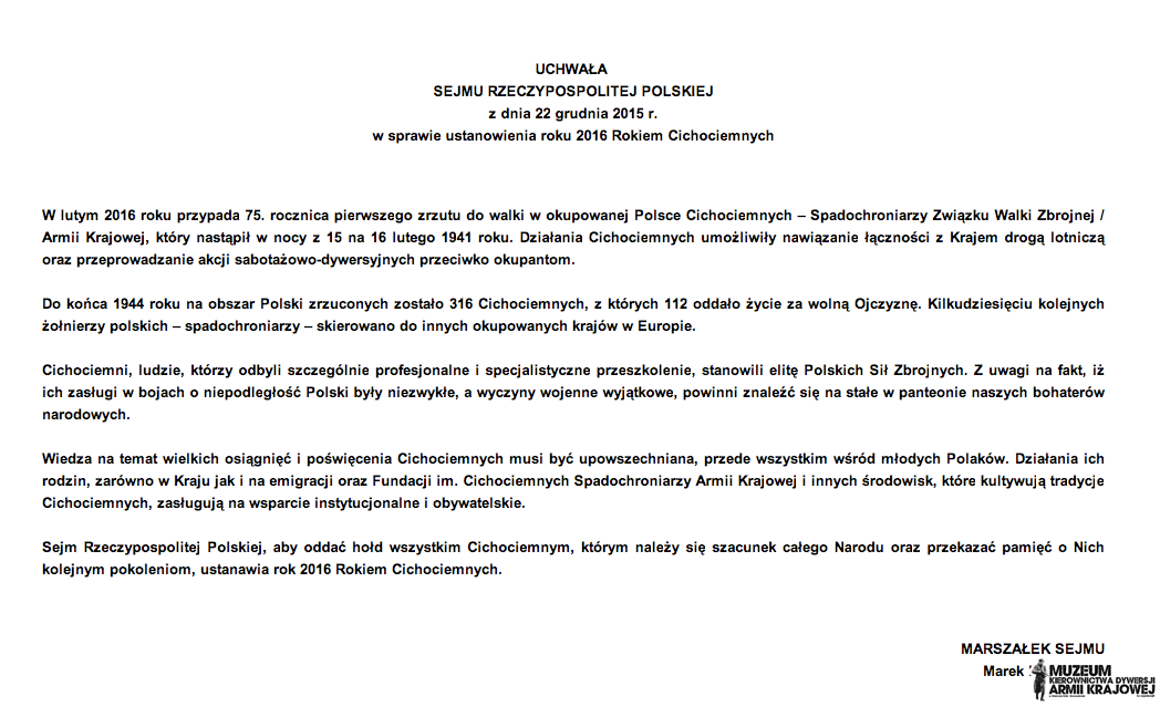 Uchwała Sejmu RP